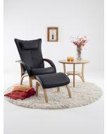 Delta Legend stol+skammel læder