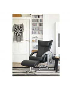 Delta Swing stol+skammel læder
