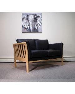 Betina 2 personers sofa læder egetræ